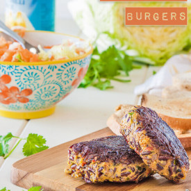 Thai Pumpkin Black Rice Burgers