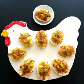 Hatch Chile Deviled Eggs