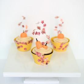 Gum Paste Pumpkin Cupcake Topper