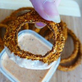 Cajun Parmesan Onion Rings
