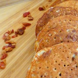 Maple Bacon Almond Flour Pancakes