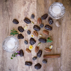 Spiced Chocolate Covered Pecans