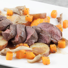Venison with roseval potatoes