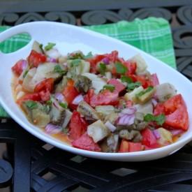Oven Baked Eggplant Salad
