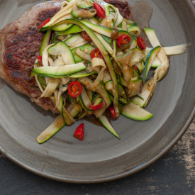 Asian Beef and Zucchini Noodles