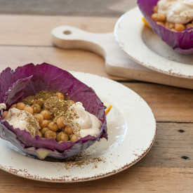 Cabbage Wraps with Chickpeas and Za'a