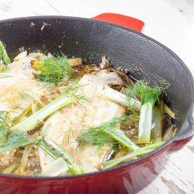 Mediterranean baked sole fillet