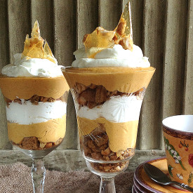 No-Bake Pumpkin Cheesecake Trifles