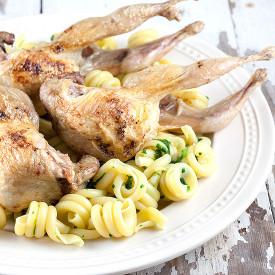 Oven roasted quail