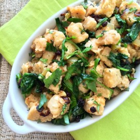 Rustic Herbed Stuffing with Greens