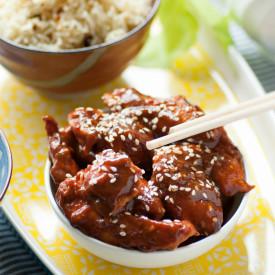 Spicy Garlic Miso Glazed Chicken