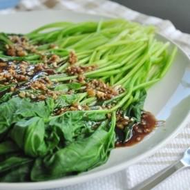 Garlic Dresing Spinach