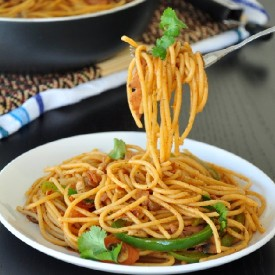 Mom's Stir-Fried Spaghetti