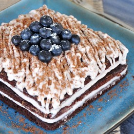 Blueberry Chocolate  Cake