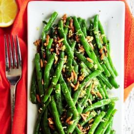 Zesty Garlic Almond Green Beans
