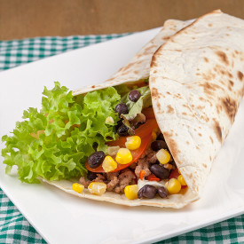 Beef breakfast burritos