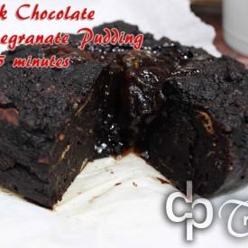 Dark Chocolate Pomegranate Pudding