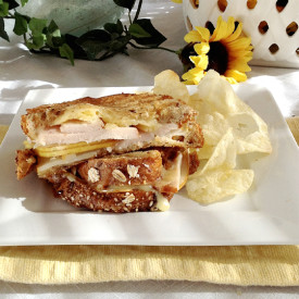 Turkey, Dubliner and Pear Panini
