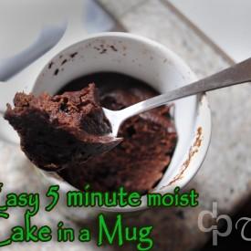 microwave a 5 minute mug cake