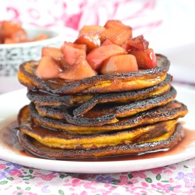 Apples & Red Wine Pumpkin Pancakes
