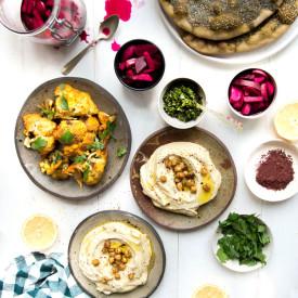 Hummus and Zaatar Flatbread