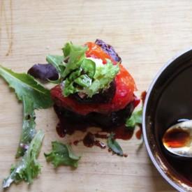 Beet, Tomato and Burrata Salad Stack