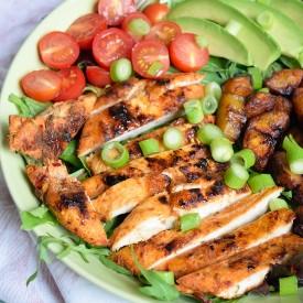 Cajun Chicken Plantain Salad