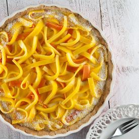 Mango papaya and coconut pie