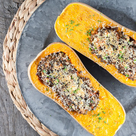 Roasted butternut squash filled wit