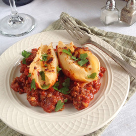 Stuffed Shells Bolognese