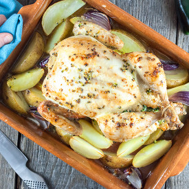 Whole roasted jalapeno chicken