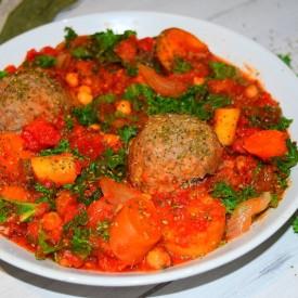 Veggie Stew and Dumplings