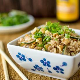 Zucchini Walnut Fried Rice