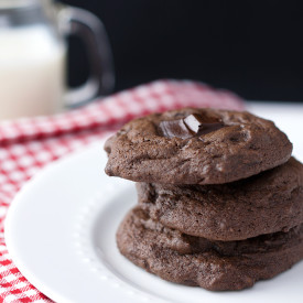 Chewy Double Chocolate Chunk Cookie