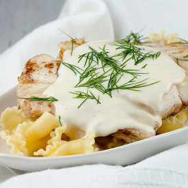 Creamy white wine and dill sauce
