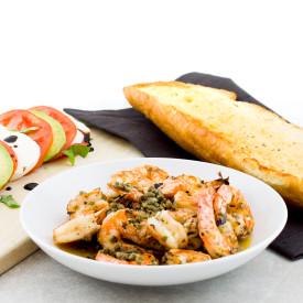 Grilled Shrimp with Avocado Caprese