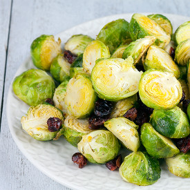 Oven-roasted Brussels sprouts with