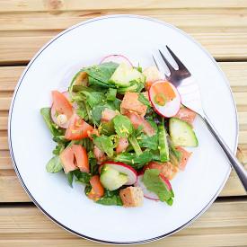 Fattoush, a Levantine bread salad