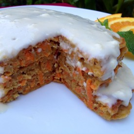 Whole Wheat Carrot Cake Pancakes wi