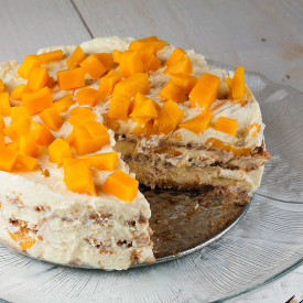 Mango royale icebox cake