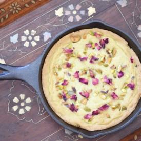Pistachio Skillet Cake