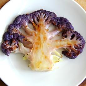 Roasted Purple Cauliflower Steaks