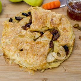 Apple Galette With ApricotP Jam