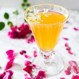 Elderflower Honey Peach Cocktail