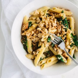 Creamy Vegan Spinach Pasta