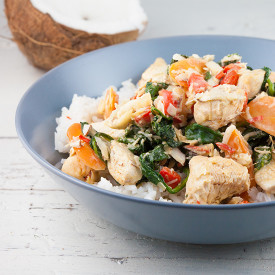 Creamy coconut chicken and rice
