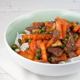 Easy beef and vegetable stir fry