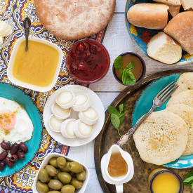 Traditional Moroccan Breakfast