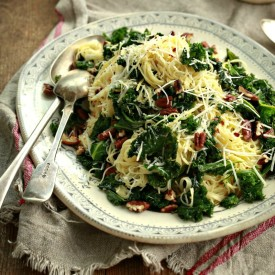 Angel Hair Pasta with Kale