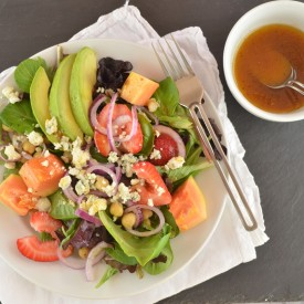 Papaya & Strawberry Salad